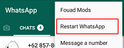 restart whatsapp